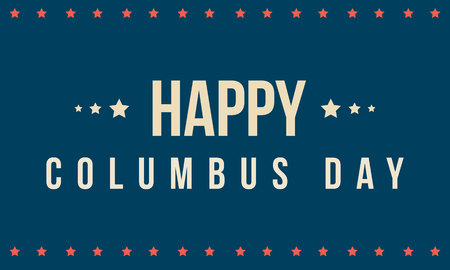 Columbus day on blue background vector illustration