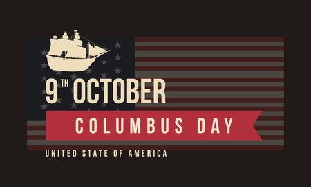 Background for Columbus Day vector art illustration Illustration
