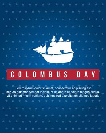 Ilustración de vector de colección de estilo de fondo de día de Colón Foto de archivo - 86153984