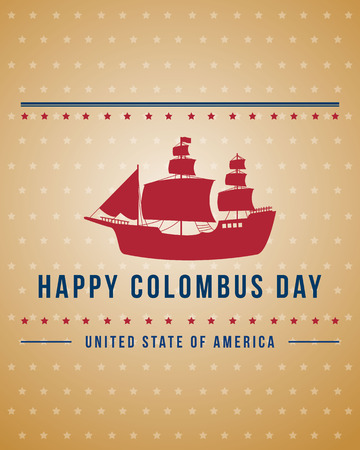 Columbus day celebration banner design