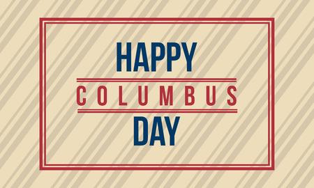 Arte feliz del vector del diseño del fondo del día de Columbus Foto de archivo - 86154007