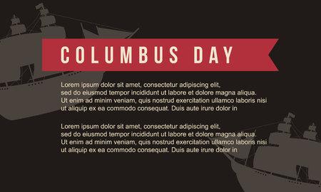 Antecedentes para el Día de Colón ilustración vectorial de arte Foto de archivo - 86154008