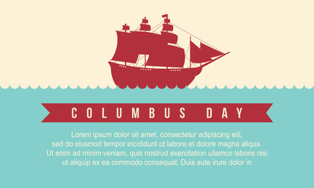 Happy Columbus Day style background vector illustration
