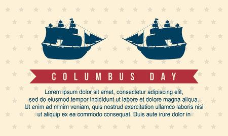 Feliz día de Colón estilo ilustración de vector de fondo Foto de archivo - 86154012