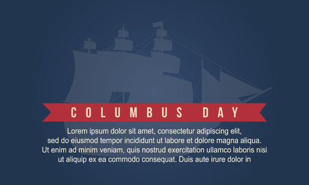 colonization: Columbus day design background collection vector art