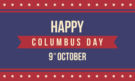 colonization: Collection Columbus day card style vector illustration