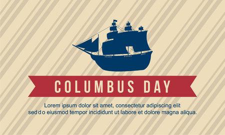 Arte feliz del vector del diseño del fondo del día de Columbus Foto de archivo - 86154040