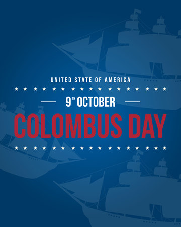 Columbus day background style collection Stock Photo