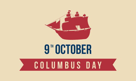 Happy Columbus Day background design