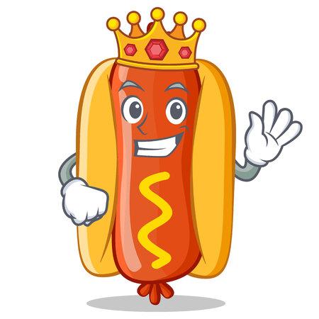 King Hot Dog Cartoon Character