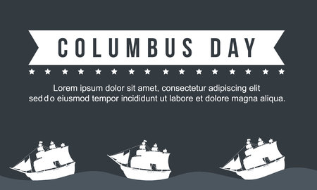 Columbus day celebration design collection