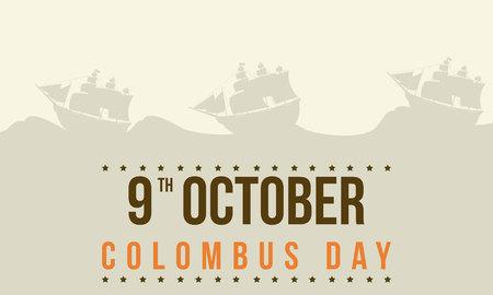 Columbus day celebration background style