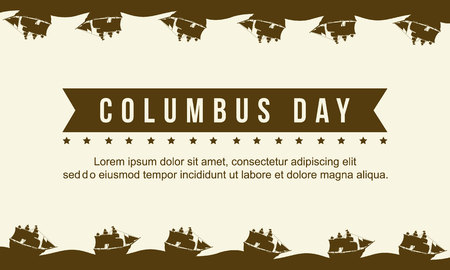 Collection columbus day celebration background