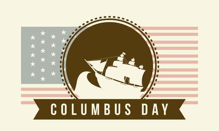 Ilustración de vector de estilo de fondo de celebración de día de Colón Foto de archivo - 86222147