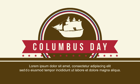 Collection columbus day celebration background vector illustration Illustration