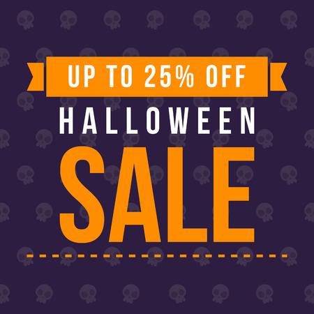 Big sale Halloween on blue background Illustration