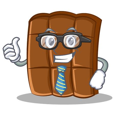 Businessman chocolate character cartoon style