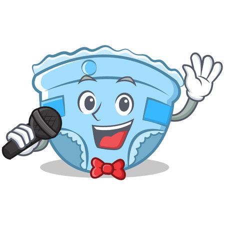 Singing baby diaper character cartoon.