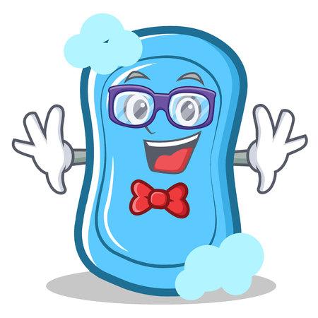 Ilustración de vector de dibujos animados de personaje de jabón azul geek Foto de archivo - 86633487