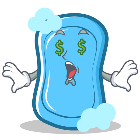 Dibujos animados de personaje de ojo de jabón azul del ojo Foto de archivo - 86746121