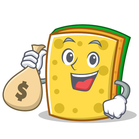 With money bag sponge cartoon character funny