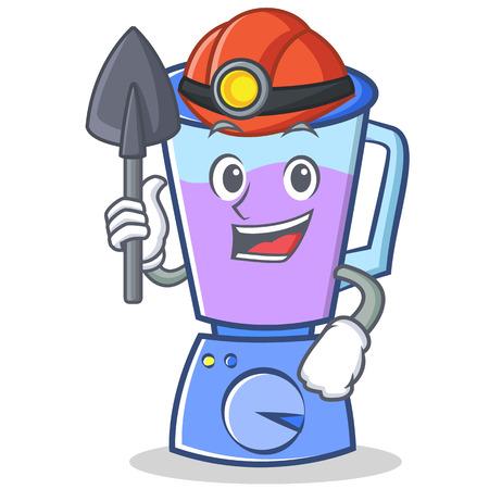 Miner blender character cartoon style vector illustration