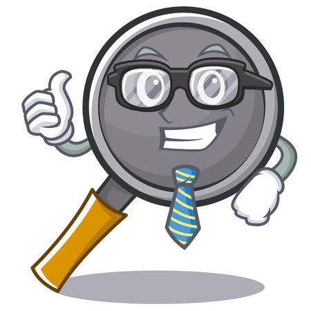 Businessman frying pan cartoon character