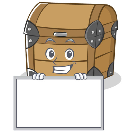 Grinning with board chest character cartoon style
