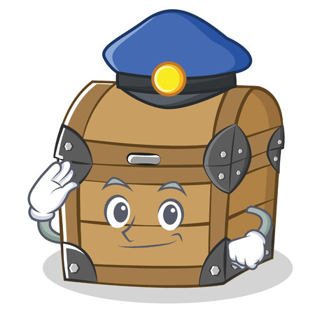 Police chest character cartoon style Illustration