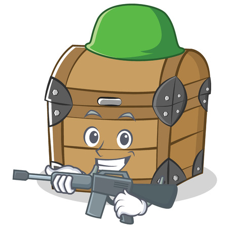 Army chest character cartoon style
