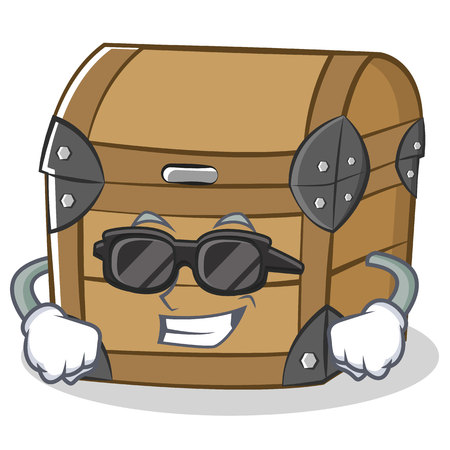Super cool chest character cartoon style vector illustration Illustration