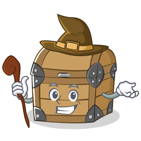 Witch chest character cartoon style