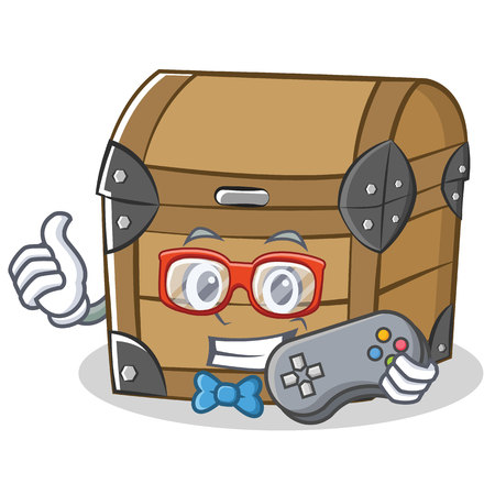 Gamer chest character cartoon style Illustration