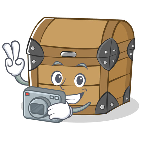 Photography chest character cartoon style vector illustration