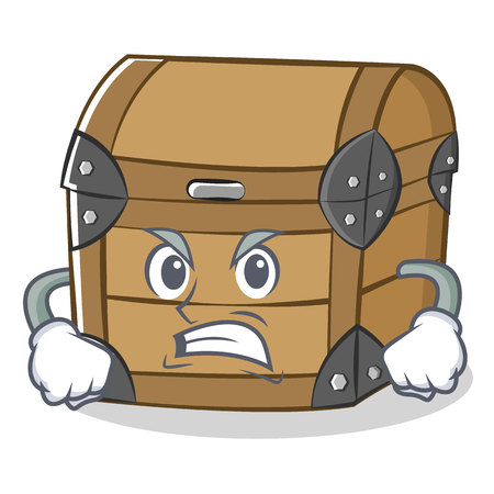 Angry chest character cartoon style