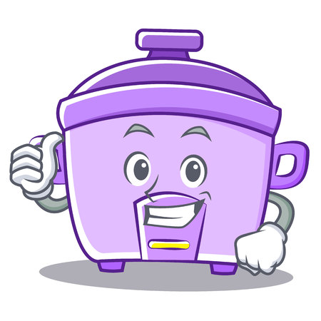 Thumbs up rice cooker character cartoon
