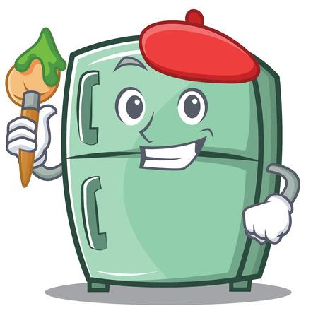 Artist cute refrigerator character cartoon