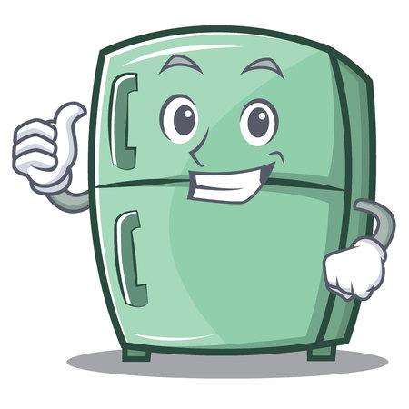 Duim omhoog schattige koelkast karakter cartoon Stockfoto - 87266475