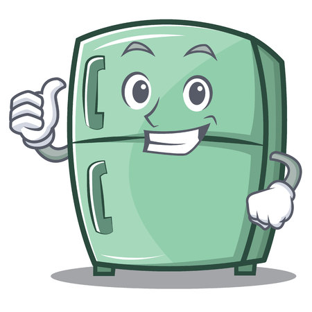Thumbs up cute refrigerator character cartoon