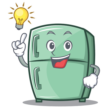 Have an idea cute refrigerator character cartoon