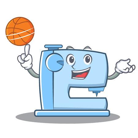 バスケット ボール ミシン絵文字文字を再生 写真素材 - 87286797