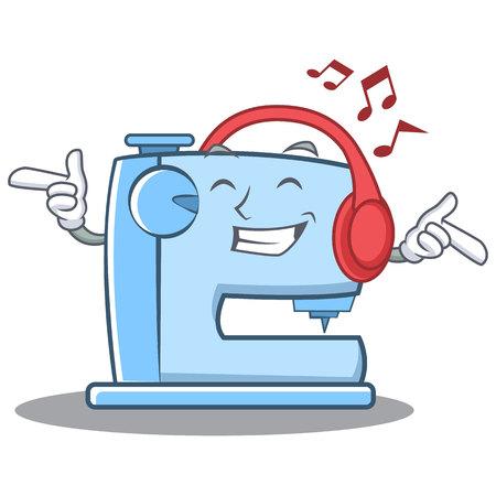 リスニング音楽ミシン絵文字文字