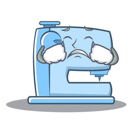 泣いているミシンの絵文字キャラクター