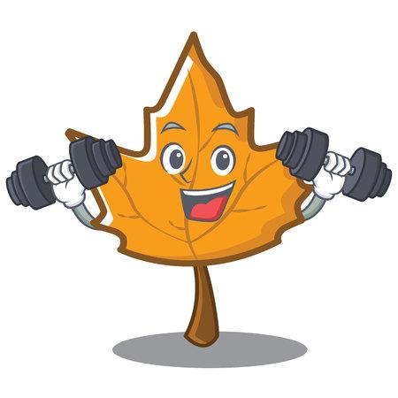 eye close up: Fitness maple character cartoon style vector illustration Illustration