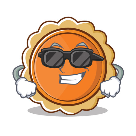 Super cool pumpkin pie character cartoon