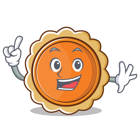 Finger pumpkin pie character cartoon vector illustration