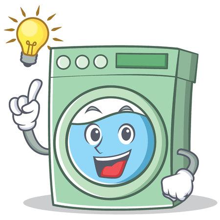 Have an idea washing machine character cartoon vector illustration Vektorové ilustrace