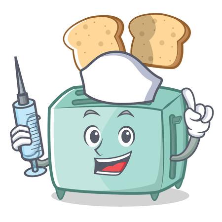Nurse toaster character cartoon style