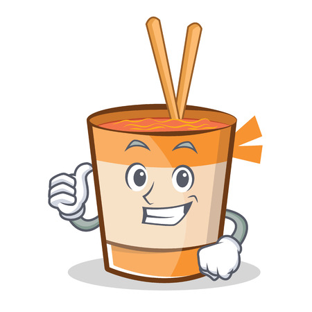 Thumbs up cup noodles character cartoon