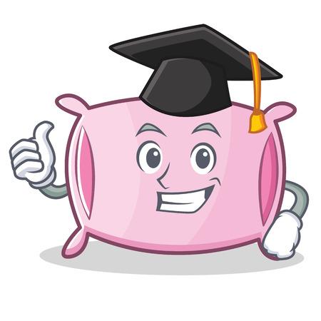 date night: Graduation pillow character cartoon style